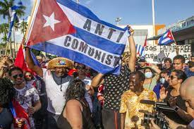 Thousands of Cubans protest against the government