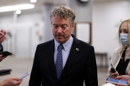 YouTube suspends Sen. Rand Paul over a video falsely claiming masks are ineffective